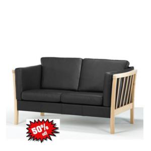 sofa 2 personers stof