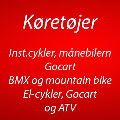 Go-Cart, BMX, ATV, Crosser, Berg cykler, Klapvogne, EL cykler, løbehjul m.m (5)