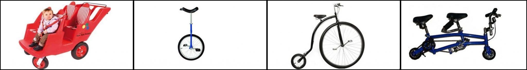 sjove cykler og køretøjer