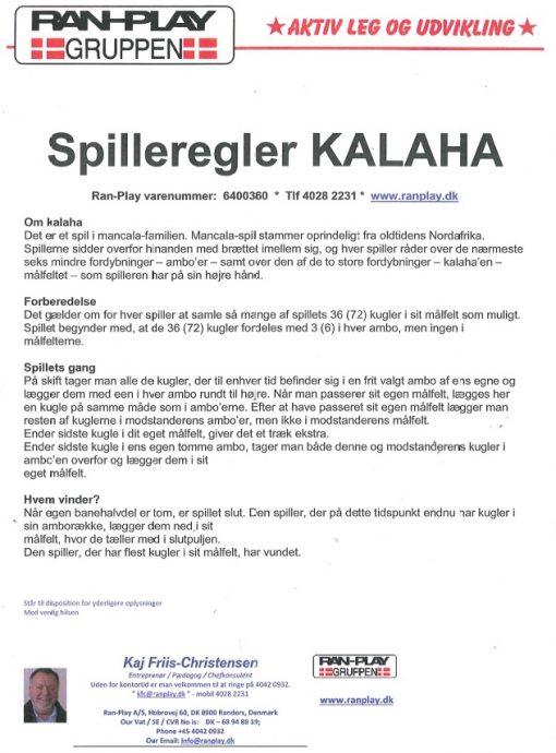 Kalaha spilleregler