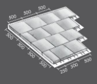 Gummiflise, faldunderlag, 50x25 cm