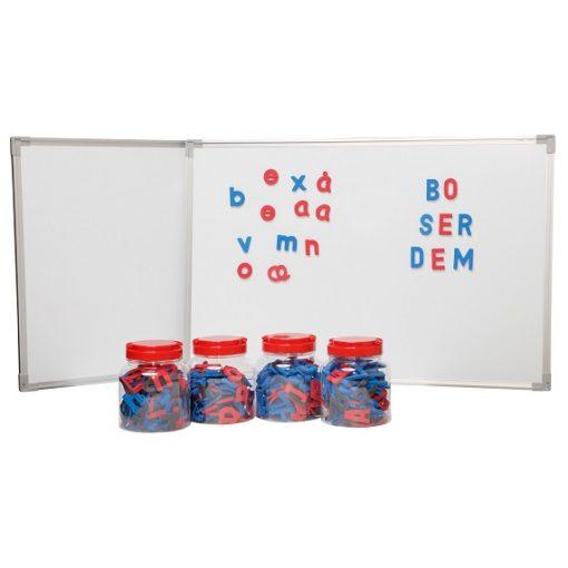 magnetbogstaver + whiteboard